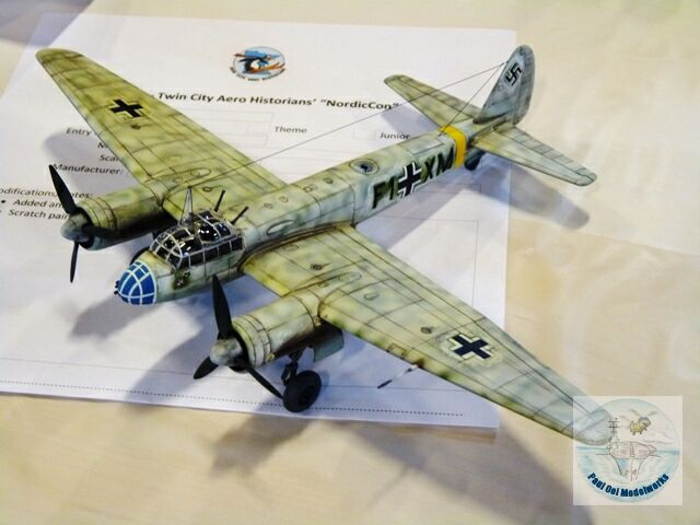 """Ju88 with a false """"cage"""" nose with frontal cannons to fool Allied fighters"""