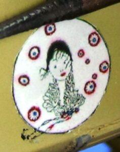"""Jolie Demoiselle"", Adj. Jacques Roques' personal badge by artist Georges Lepape"