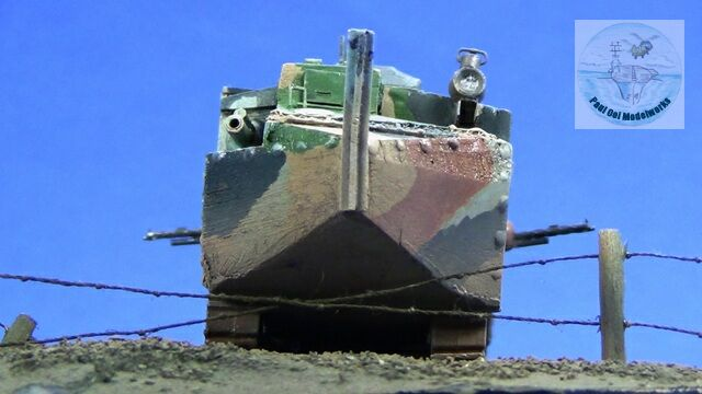Trench-eye view of the oncoming Schneider