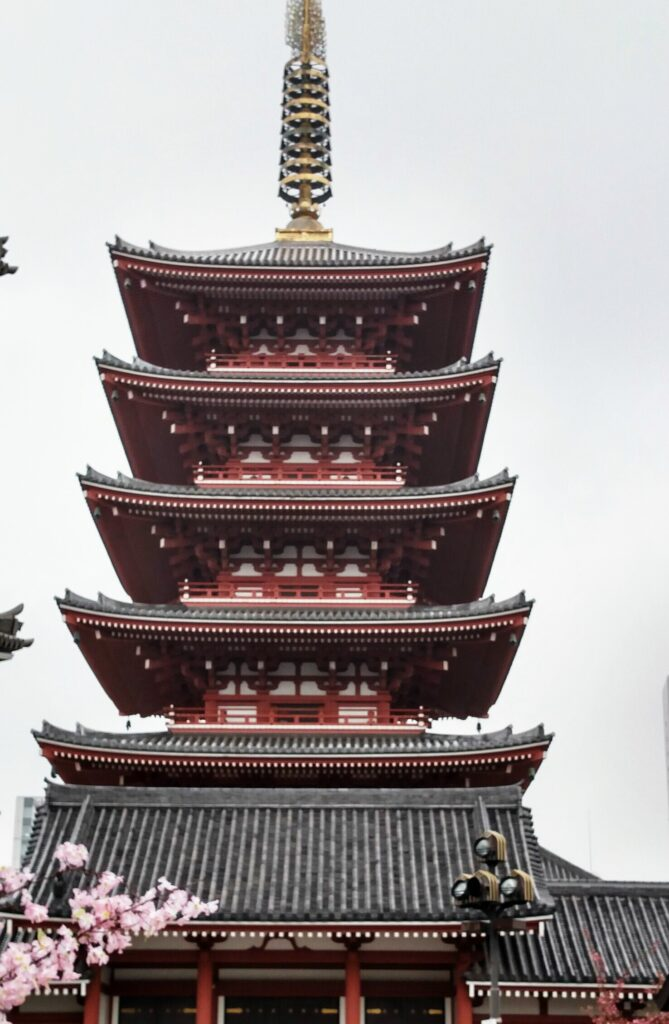 Five Story Pagoda at Senso-ji in Asakusa district, Tokyo